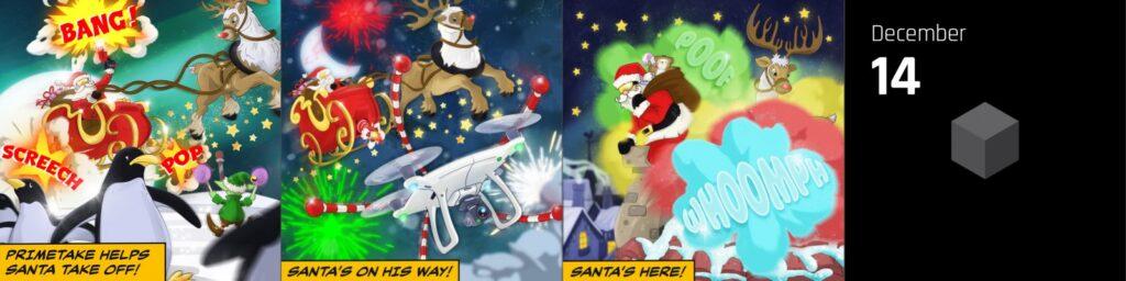 Primetake helps Santa take off